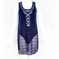 Navy Blue Sheer Cover-Up