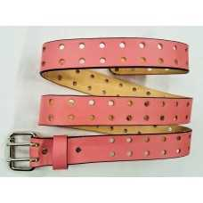 Women's Leather Belt (pink)